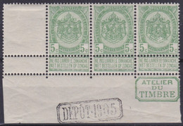 Belgie    .    OBP  .   56a  .  Strook 3 Zegels  .   **    .   Postfris  .   /    .   Neuf Avec Gomme Et SANS Charnière - 1893-1900 Barba Corta