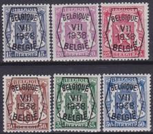 Belgie  .  OBP  .  PO 369/374    .   **    .   Postfris  .   / .   Neuf Avec Gomme Et SANS Charnière - Typo Precancels 1936-51 (Small Seal Of The State)