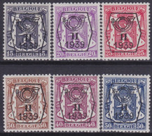 Belgie  .  OBP  .  PO  411/416    .   **    .   Postfris  .   / .   Neuf Avec Gomme Et SANS Charnière - Typo Precancels 1936-51 (Small Seal Of The State)