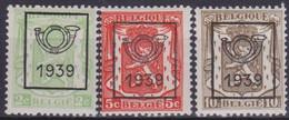 Belgie  .  OBP  .  PO  417/419      .   **    .   Postfris  .   / .   Neuf Avec Gomme Et SANS Charnière - Typo Precancels 1936-51 (Small Seal Of The State)