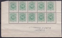 Belgie  .  OBP  .   TX 1 .  Blok 10x (2 Scans)     .   **    .   Postfris  .   / .   Neuf Avec Gomme Et SANS Charnière - Francobolli