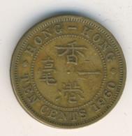 HONG KONG 1960: 10 Cents, KM 28 - Hong Kong