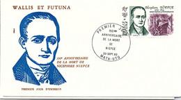 WALLIS ET FUTUNA -FDC 150e ANNIV. MORT NICEPHORE NIEPCE - Yv PA N° 128 -CACHET PREMIER JOUR MATA-UTU 20.9.1983    /2 - Covers & Documents