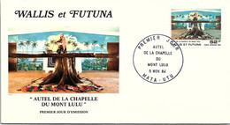 WALLIS ET FUTUNA -FDC AUTEL CHAPELLE MONT ULU - Yv PA N° 141 -CACHET PREMIER JOUR MATA-UTU 5.11.1984 /2 - Covers & Documents