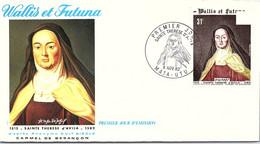 WALLIS ET FUTUNA -FDC SAINTE THERESE D'AVILA  - Yv N° 318 -CACHET PREMIER JOUR MATA-UTU 8.11.82/2 - Covers & Documents