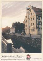 Postcard Hansestadt Wismar Konigsspeicher Und Frische Grube My Ref B24726 - Wismar