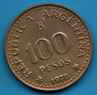 ARGENTINA  100 PESOS 1978 KM# 82 José De San Martín (1778-1978) - Argentina