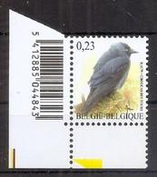 BELGIE * Buzin * Nr 3625  Barcode * Postfris Xx * FLUOR  PAPIER - 1985-.. Uccelli (Buzin)