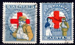 GRECE (Royaume) - 1924 - Prèvoyance Sociale - N° 19A Et 19 B - (Au Bénéfice De La Croix-Rouge) - Gebraucht
