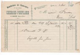 49 - GESTÉ - FACTURE  1909 - MANUFACTURE DE CHAUSSURES - COCHARD-POUPLARD - Otros Municipios