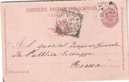 Palermo-cartolina Postale X Roma -ind,generale Di Pubblica Sicurezza-1898  -di 123 Anni - Palermo