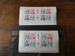 """MONACO Demi Bloc Feuillet """"Croix Rouge"""" 1951 N° 4A Et 4B Neufs Sans Charnière - Blocks & Sheetlets"""
