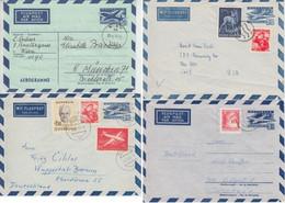 Österreich - 4 Luftpost Ganzsachen (2xLU5a, LU7II, LF14) Alle Sauber Gebraucht - Enteros Postales