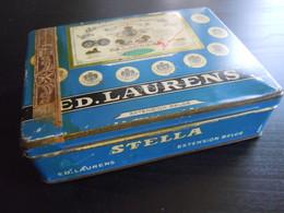 Stella Ed. Laurens Extension Belge Boîte En Metal Pour 60? Cigarettes Blikken Doos Voor Sigaretten 10,5 X 14 X 3,7 Cm - Non Classés