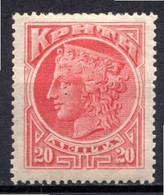 CRETE - (Administration Crétoise) - 1900 - N° 4 - 20 L. Rouge - (Hera) - Crete
