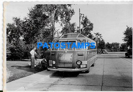 156967 AUTOMOBILE OLD CAR AUTOBUS BUS COLECTIVO & MAN'S SPOTTED PHOTO NO POSTAL POSTCARD - Ohne Zuordnung