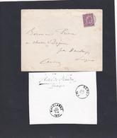 N° 46 / Lettre De Bruges Station Verso AMBULANT NORD  I - 1884-1891 Leopold II
