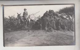 SOMALIA ITALIANA COLONIE BENADIR FOTOGRAFIA  ORIGINALE 1913/1915  TERMITAIO CM 14 X 8 - War, Military