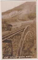 CANADA - Stoney Creek Bridge With Train - Matt RPPC - Structures