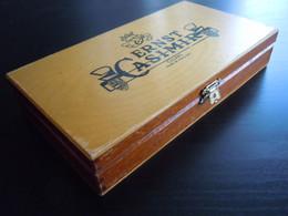 Ernst Casimir Holland Houten Kist Voor  Sigaren Boïte En Bois Pour Cigares 22,5 X 12,3 X 4 Cm - Scatola Di Sigari (vuote)