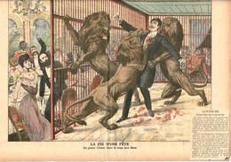 LE CIRQUE 8 Couvertures De Journaux Anciens Présentant Des Accidents Graves Qui Ont Marqué Le Monde Du Cirque. - Sammlungen