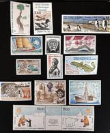 TAAF 1992, Poste N° 163 à 170 Et Poste Aérienne N° 119 à 124 Luxe, Timbres Magnifiques, Aucune Trace De Charnière - Komplette Jahrgänge