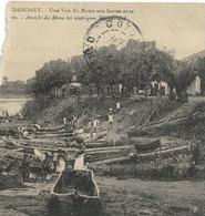 MORCEAU DE CARTE DAHOMEY   1913 VUE DU MOHO EN BASSES EAUX  BARQUES - B OBLITERATION - Dahomey