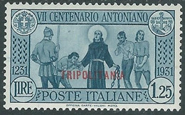 1931 TRIPOLITANIA S. ANTONIO 1,25 LIRE MH * - RE12-3 - Tripolitania