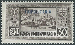 1931 TRIPOLITANIA S. ANTONIO 30 CENT MH * - RE12-2 - Tripolitania