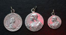 """WW1 Lot De 3 Médailles Porte-bonheur De Poilu 14/18 """"Jeanne D'Arc"""" Objet De Tranchée WWI - 1914-18"""