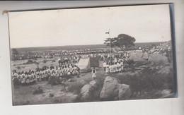 SOMALIA ITALIANA COLONIE BENADIR FOTOGRAFIA ORIGINALE 1913/1915 INALBERAMENTO BANDIERA A BUR HACABA   CM 14 X 8 - War, Military