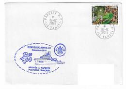 17996- B2M BOUGAINVILLE - ARRIVÉE A PAPEETE - Décembre 2016 ( TORTUE) TP POLYNESIE - Naval Post