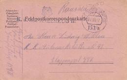 Feldpostkarte K.u.k. Panzerzug II. - Nach Etappenpost 447 - 1917 (55455) - Covers & Documents