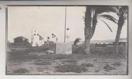 SOMALIA ITALIANA COLONIE BENADIR FOTOGRAFIA ORIGINALE 1913/1915 STAZIONE RADIO TELEGRAFICA DI BRAVA   CM 14 X 8 - War, Military
