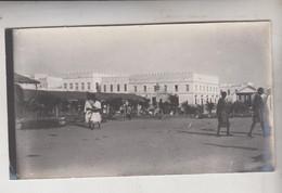 SOMALIA ITALIANA COLONIE BENADIR FOTOGRAFIA ORIGINALE 1913/1915 MERCATO DI MERCA  CM 14 X 8 - War, Military
