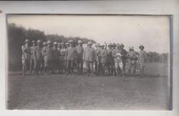 SOMALIA ITALIANA COLONIE BENADIR FOTOGRAFIA ORIGINALE 1913/1915 UFFICIALI A FULLAI DUMAI CM 14 X 8 - War, Military