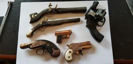 Pistolet,Revolver,Carabine,Cartouche Petit Lot De Pistolet Miniature - Armi Da Collezione