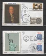 Émissions Communes FRANCE-ÉTATS-UNIS 1983 & 1986 (Yvert 2285 / 1494 & 2421 / 1672) + 2 Enveloppes Premier Jour - Ohne Zuordnung