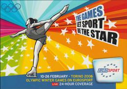 France Postcard 2006 Torino Olympic Games - Eurosport TV Mint (G128-23) - Winter 2006: Turin