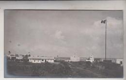 SOMALIA ITALIANA COLONIE BENADIR FOTOGRAFIA ORIGINALE 1913/1915 PANORAMA DI BRAVA  CM 14 X 8 - War, Military