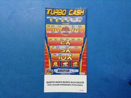 ITALIA BIGLIETTO LOTTERIA GRATTA E VINCI USATO € 10,00 TURBO CASH LOTTO 3029 ITALY LOTTERY - Billetes De Lotería