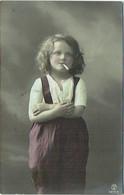 Carte Photo Fantaisie. Enfant Et Cigarette. - Sonstige