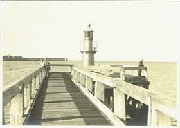 Carte Photo. Zeebrugge. Jetée Et Phare. 1939. - Luoghi