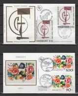 Émissions Communes FRANCE-DANEMARK & FRANCE-SUISSE 1988 (Yvert 2551 / 931 & 2557 / 1308) - 2  Enveloppes Premier Jour - Ohne Zuordnung