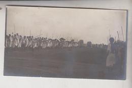 SOMALIA ITALIANA COLONIE BENADIR FOTOGRAFIA ORIGINALE 1913/1915 INAUGURAZIONE DELLE STRADE  CM 14 X 8 - War, Military