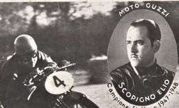 MOTO GUZZI CONDOR 500  ALBATROS 250.  SCOPIGNO ELIO. Polizia Stradale Di Milano. Motociclismo.  FOTOGRAFIA. 1au - Moto Sport