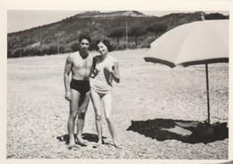 11485.  Foto Vintage Coppia Uomo Donna Femme In Costume Mare Aa '60 Italia - 10x7 - Persone Anonimi