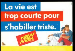 La Vie Est Trop Courte Pour S'habiller Triste New Man Pub Couple Assis 1983 - Non Circulée - Publicidad