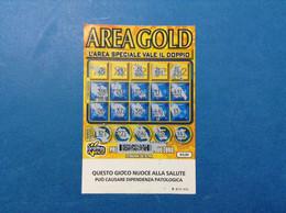 ITALIA BIGLIETTO LOTTERIA GRATTA E VINCI USATO € 5,00 AREA GOLD LOTTO 3020 SERIE KK ITALY LOTTERY TICKET - Billetes De Lotería