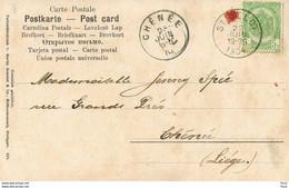 Brief CHENEE - STAVELOT 1904 - 1893-1907 Armarios